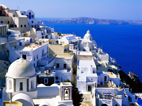 Fira Santorini Greece Greece is still a great place to take a holiday