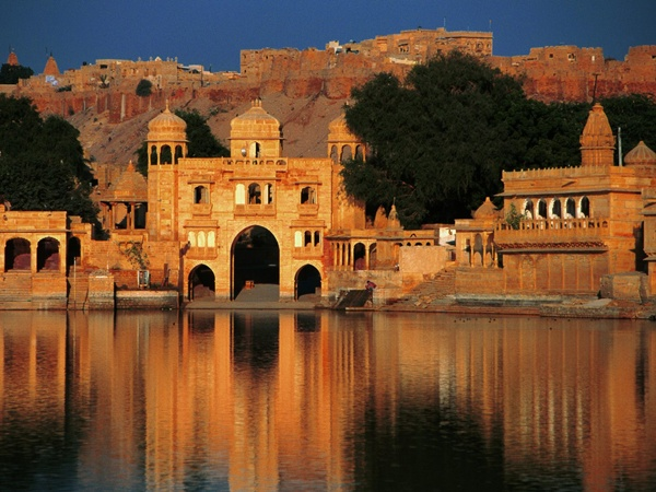 Gadi Sagar Temple Jaisalmer Rajasthan India Rajasthan, in the North West of India