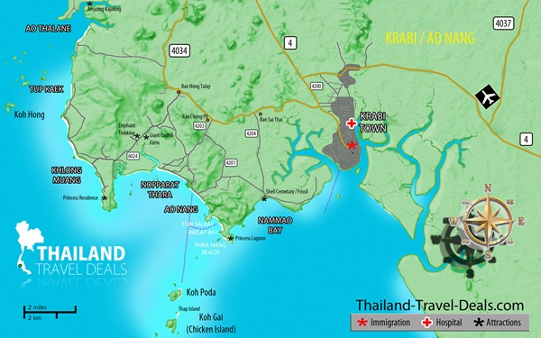map krabi Krabi: Your Gateway to the Thai Islands